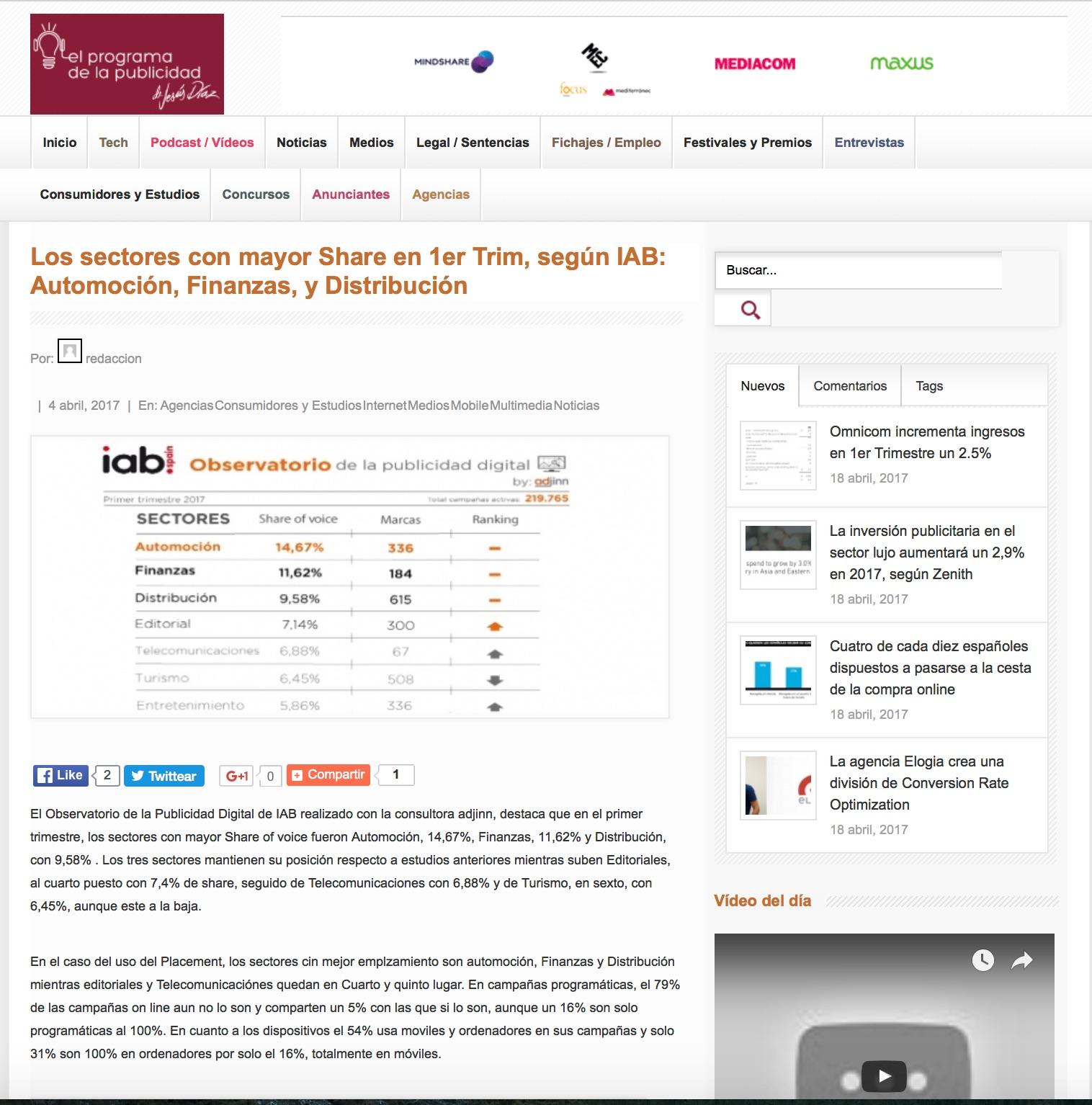 Observatorio de la Publicidad en El programa de la publicidad copia